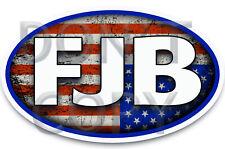 Fjb - Anti Joe Biden Funny Bumper Sticker Decal #Fjb 5 x 3 Ovals Trump