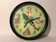 """Vintage 1992 Disney The Jungle Book 10"""" Wall Clock Disney Channel Promo Giveaway"""