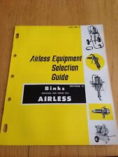 Vintage Binks Airless Equipment Catalog Spray Painting Auto Body Repair
