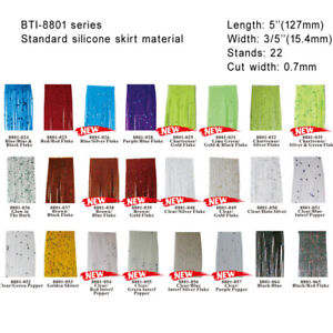 Silicone Tabs / Silicone Skirt Tabs for lure making: Samples or 100 Tab Packages