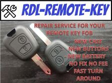 REPAIR SERVICE FOR PEUGEOT 107 206 207 307 405 406 2 BUTTON REMOTE KEY FOB