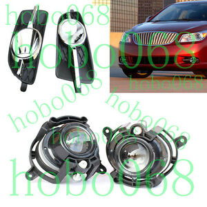 4X For Buick LaCrosse 2010-13 Car Front Bumper Fog/Driving Lights&Housing COVER