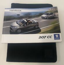 PEUGEOT 207 CC OWNERS PACK / HANDBOOK / MANUAL WITH WALLET 2007~2009 (2008)