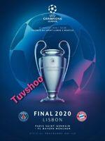 BAYERN v PARIS SAINT GERMAIN Champions League Final LISBON 2020 PROGRAMME!