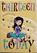 Thirteen today Birthday card, female, Selective brand relaxation theme brand new