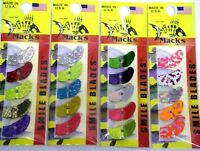 MACK'S MACKS SMILE BLADES LURE PARTS 4 PACKS TROLLING BLADES 1.1 4 PK ASSORTMENT