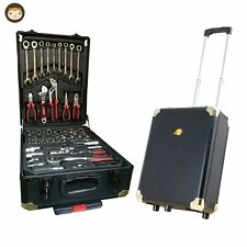Tool Box on Wheels - Chest Trolley Tools Cabinet Kit Set Storage Lock Organiser