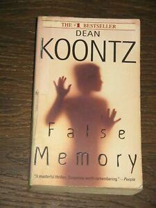 False Memory by Dean Koontz - Paperback PB
