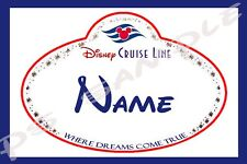 4x6 Disney Cruise Stateroom Door Magnet - NAME TAG / NAME BADGE - Fish Extender