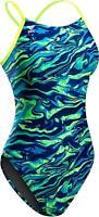 TYR Women's Miramar Cutoutfit Swimsuit, Blue/Green, 26, Blue/Green, Size 26 Q8dN