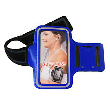 Samsung Galaxy S3/4/5 Exercise Armband: Blue (Cycling Running Sports Case Cover)