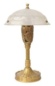 Prunkvolle original Art Deco Salonlampe Tischleuchte Frankreich um 1920 Sammler