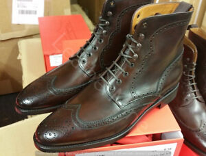 New Men Handmade Brown Leather wingtip ankle Dress Boots, Genuine Leather Boots