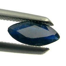 Marquise Shape Australian Sapphire Loose Gemstone - Dark Blue/Black