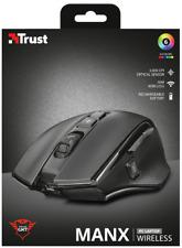 TRUST 21790 GXT 140 MANX 3000 DPI Mouse Da Gioco Nero con batteria ricaricabile