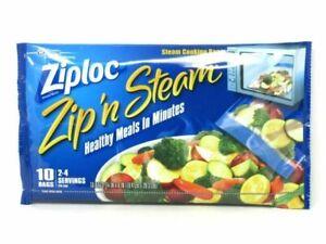 Zip N Steam Cooking Bags Microwave 10 Bags Per Pack NEW