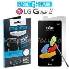Gadget Guard LG Stylo 2 Tempered Glass Black Ice Clear Screen Protector
