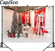 Christmas Tree Photo Backdrops Wooden Floor Cottage Photography Backgrounds UK