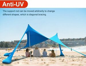 12x12X7 BLUERUNNER SUNSHADE/BEACH Tent. 100% LYCRA. WIND RESISTANT,  UV 50+....