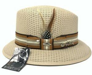 Mens Danny Del La Paz Signature Edition Khaki Lowrider Fedora Hat By Summit Hats