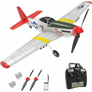 Top Race Remote Control 4 Channel War Airplane Mustang TR-P51; Advanced RC Plane