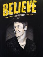 Justin Bieber Believe Tour 2013 T Shirt Size Ladies Small