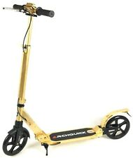 Scooter Commuter Push Scooter BIG Wheel Hand Brake Adult Kids Anodizing Gold