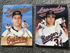 BASEBALL1991 LEGENDS SPORTS MEMORABILIA 2 Used Books Cal Ripken Jr. & Nolan Ryan