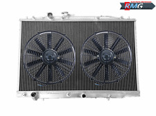 2Row Aluminum Radiator For 2004-2008 Acura TL 3.2L V6 J32A3 2005 2006 2007+Fans