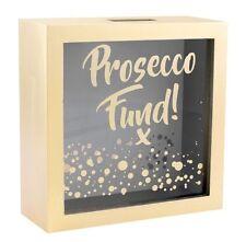 Prosecco Fund Gold Money Box / Coin Bank Savings