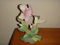MASTERPIECE PORCELAIN BY HOMCO GLORY OF NATURE 1991 HUMMING BIRD FIGURINE
