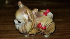 "Vintage Josef Originals Ceramic Pomeranian Dog Figurine Japan 3.5"" x 3"""