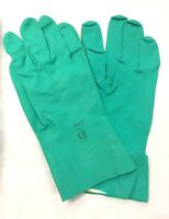 NEW 15ml FLOCKLINED NITRILE WORKWEAR SAFETY GLOVES ABRASION RESISTANCE - GREEN