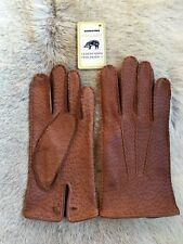 Peccary Leather Gloves Men's Winter Gloves All Size's Black Brown Cognac Cork