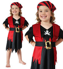 Childrens Kids Pirate Girls Fancy Dress Costume Buccaneer Kids Outfit 2-3 Yrs