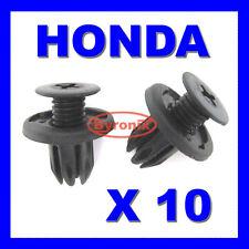 HONDA CIVIC ACCORD PRELUDE BUMPER CLIPS PLASTIC FASTENERS X10