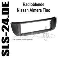 Nissan Almera Tino V10 Autoradio Radio Blende Einbaurahmen schwarz