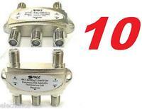 10 X DiSEqC 4X1 SATELLITE SWITCH DISH FTA RECEIVER LNB BELL FREE TO AIR DIRECTV