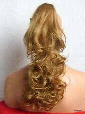"Clip in Hair Pony Tail Hair Piece Extension Curly Dark Blonde #14  19"" VINA"