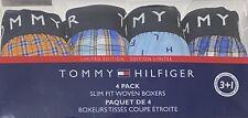 Tommy Hilfiger 4 Slim Fit Woven Boxers Medium 32-34 Assorted Blues/Orange  8537