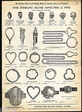1904 ADVERT Sterling Silver Dog Shaped Whistle Cigar Cutter Pocket Knife Knives