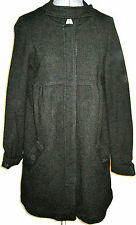 ELEGANT NEW ZARA BLACK FELTED WOOL WINTER COAT DRESSY CLASSIC M MEDIUM NWOT
