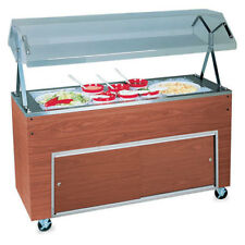"""Vollrath 38713 Affordable Portable Ice Cooled Cold Pan Unit, 46""""W, Black"""