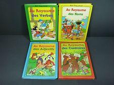 Vintage 4 Walt Disney FRENCH Book 1979 AU ROYAUME DES VERBES-NOMS-ADJECTIFS+++