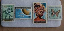Guinea 1961 1963 1964 stamp MNH/OG Lot of 4