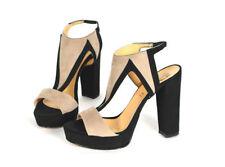 Damenschuhe mit Knöchel -/Fesselriemen aus Wildleder 39 Größe