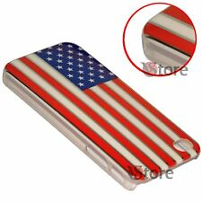 Cover Custodia Per iPhone 4 4S Bandiera America USA Americana Cromata rigida