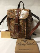 NWT PATRICIA NASH Aberdeen Tan Leather Mini Bloom Floral Backpack Purse $199
