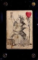 Genuine c1852 Rare Transformation Antique Playing Cards King Hearts Court Single