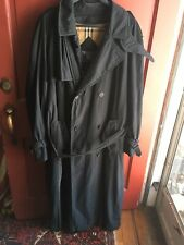 Mens Burberry Micro Fiber black Trenchcoat With Liner 42 Long